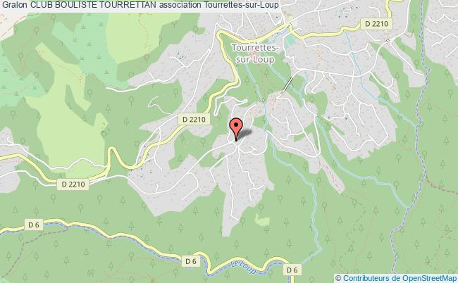 plan association Club Bouliste Tourrettan