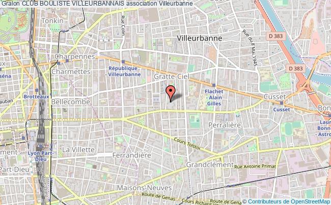 plan association Club Bouliste Villeurbannais