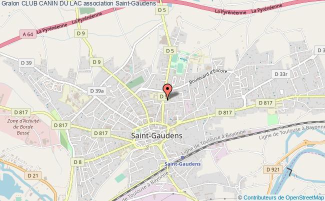 plan association Club Canin Du Lac Saint-Gaudens