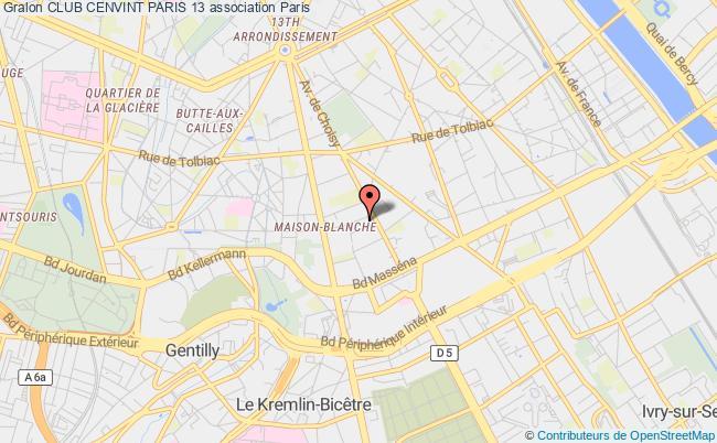 plan association Club Cenvint Paris 13