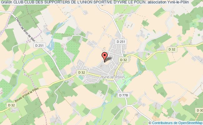 plan association Club Club Des Supporters De L'union Sportive D'yvre Le Polin.