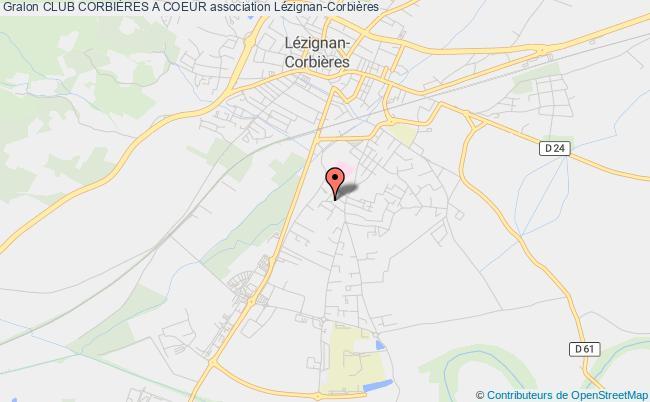 plan association Club CorbiÈres A Coeur Lézignan-Corbières