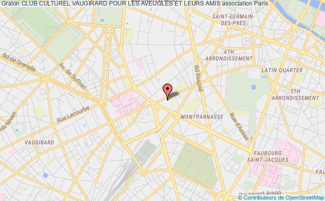 plan association Club Culturel Vaugirard Pour Les Aveugles Et Leurs Amis Paris
