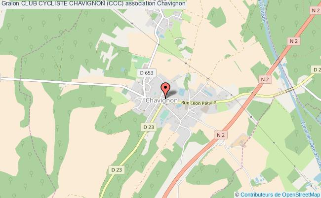 plan association Club Cycliste Chavignon (ccc)