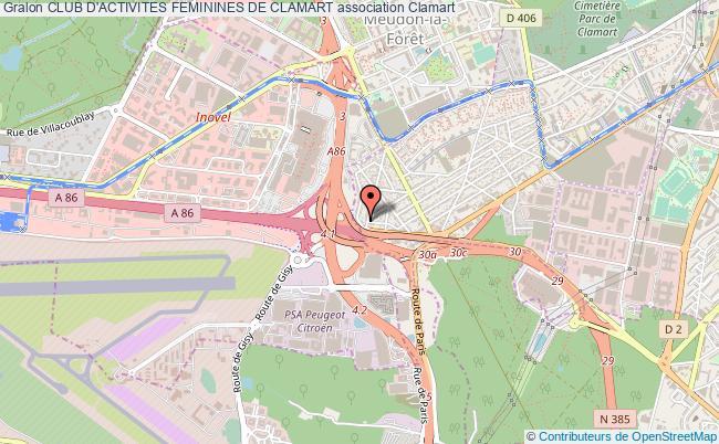 plan association Club D'activites Feminines De Clamart