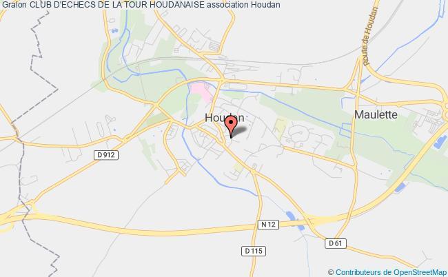 plan association Club D'echecs De La Tour Houdanaise Houdan