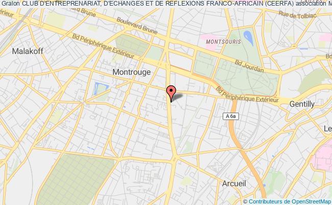 plan association Club D'entreprenariat, D'echanges Et De Reflexions Franco-africain (ceerfa) Montrouge