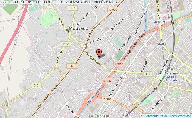 plan association Club D'histoire Locale De Mouvaux
