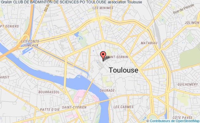 plan association Club De Badminton De Sciences Po Toulouse