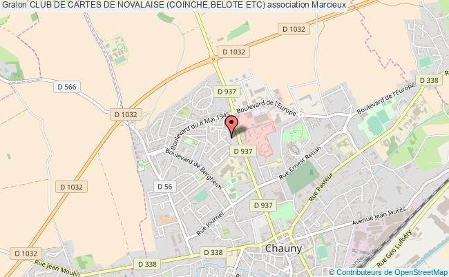 plan association Club De Cartes De Novalaise (coinche,belote Etc) Marcieux