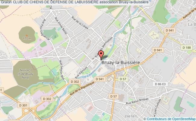 plan association Club De Chiens De Defense De Labuissiere