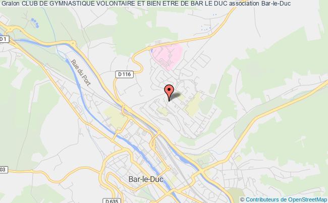 plan association Club De Gymnastique Volontaire Et Bien Etre De Bar Le Duc