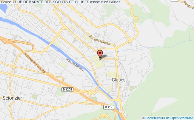 plan association Club De Karate Des Scouts De Cluses