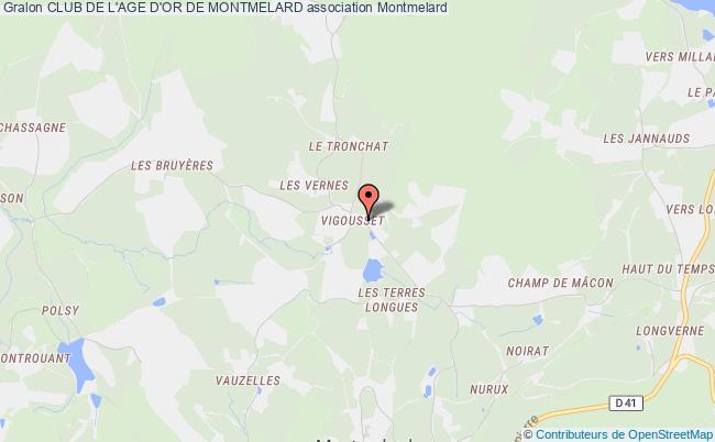 plan association Club De L'age D'or De Montmelard