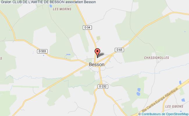 plan association Club De L'amitie De Besson