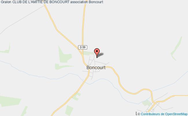 plan association Club De L'amitie De Boncourt