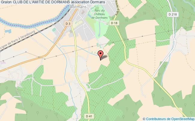 plan association Club De L'amitiÉ De Dormans