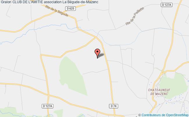 plan association Club De L'amitie La    Bégude-de-Mazenc