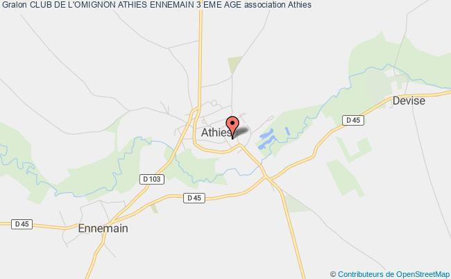 plan association Club De L'omignon Athies Ennemain 3 Eme Age