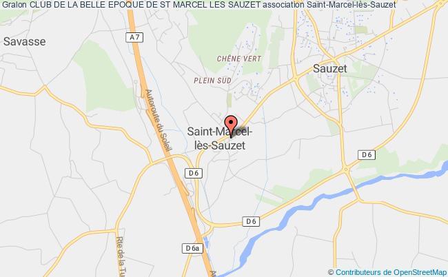 plan association Club De La Belle Epoque De St Marcel Les Sauzet Saint-Marcel-lès-Sauzet