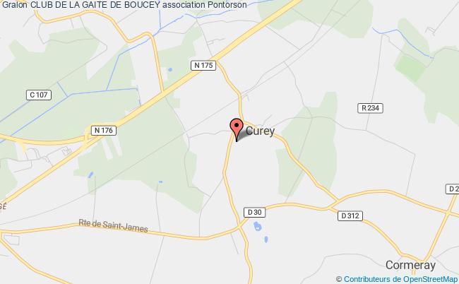 plan association Club De La Gaite De Boucey Pontorson