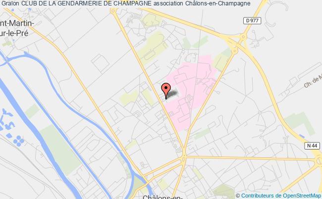 plan association Club De La Gendarmerie De Champagne
