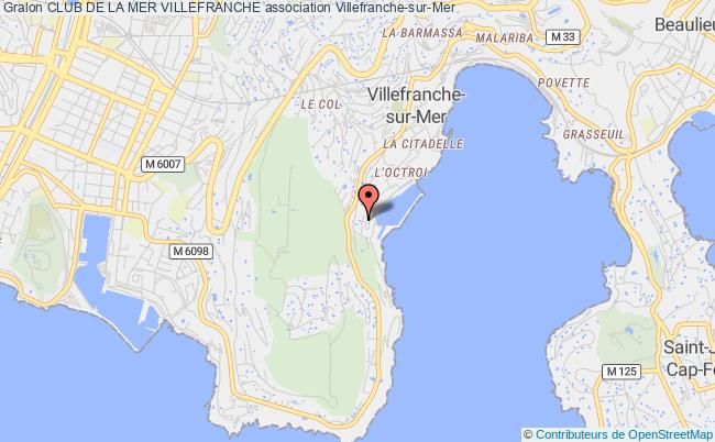 plan association Club De La Mer Villefranche Villefranche-sur-Mer