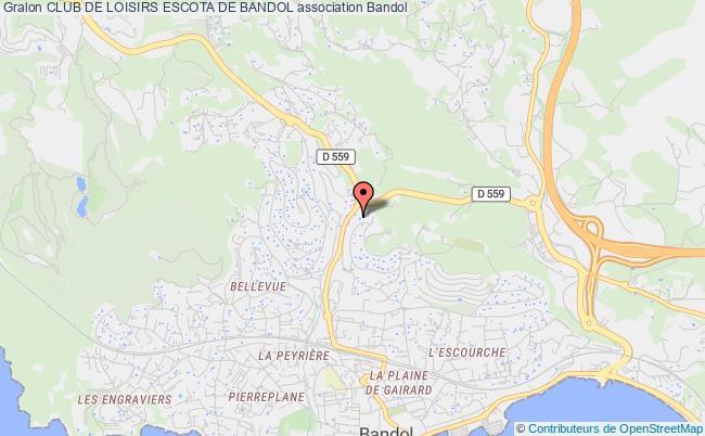 plan association Club De Loisirs Escota De Bandol