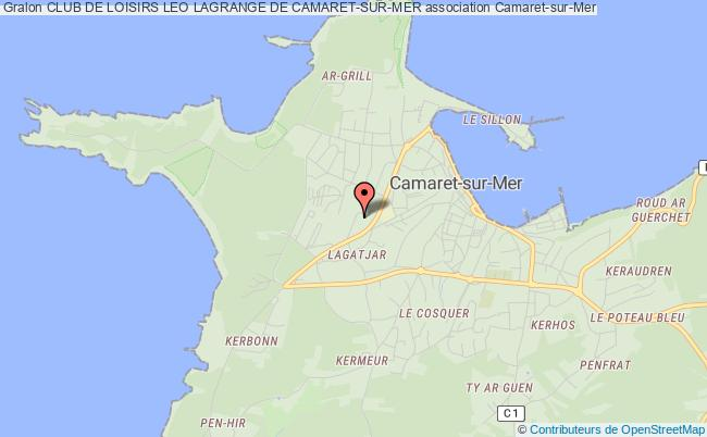 plan association Club De Loisirs Leo Lagrange De Camaret-sur-mer