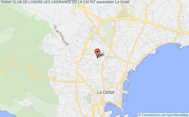 plan association Club De Loisirs Leo Lagrange De La Ciotat
