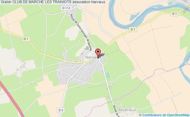 plan association Club De Marche Les Trainiots Nervieux