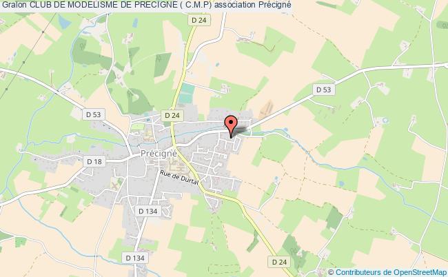 plan association Club De Modelisme De Precigne ( C.m.p)