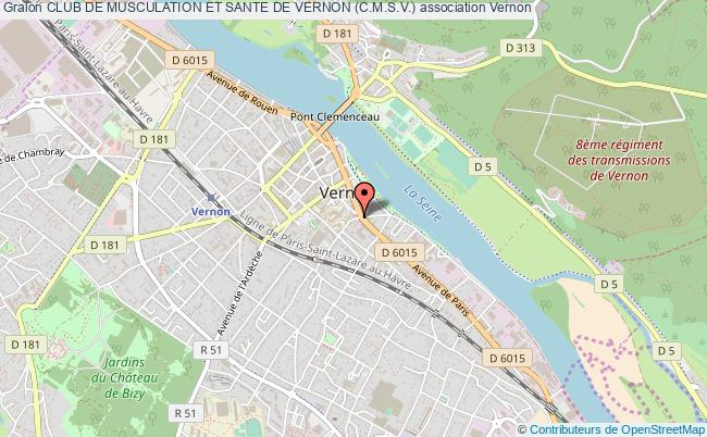 plan association Club De Musculation Et Sante De Vernon (c.m.s.v.)