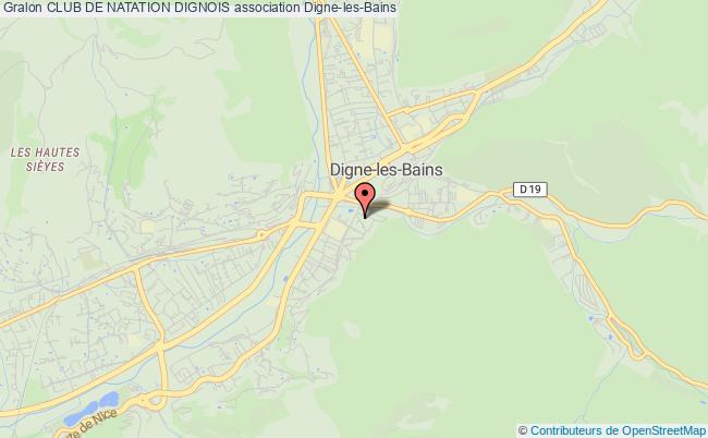 plan association Club De Natation Dignois