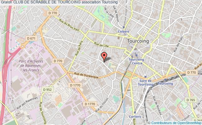 plan association Club De Scrabble De Tourcoing