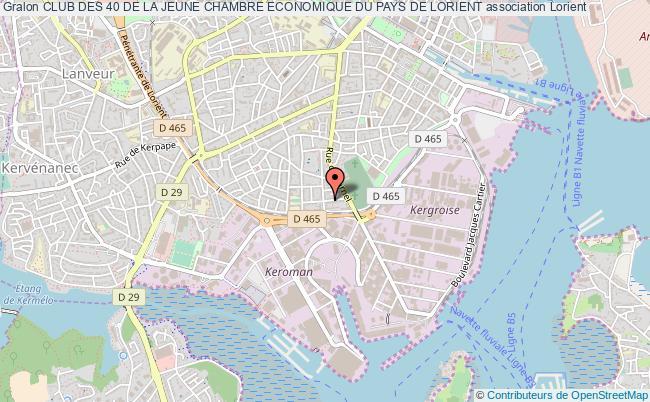 plan association Club Des 40 De La Jeune Chambre Economique Du Pays De Lorient