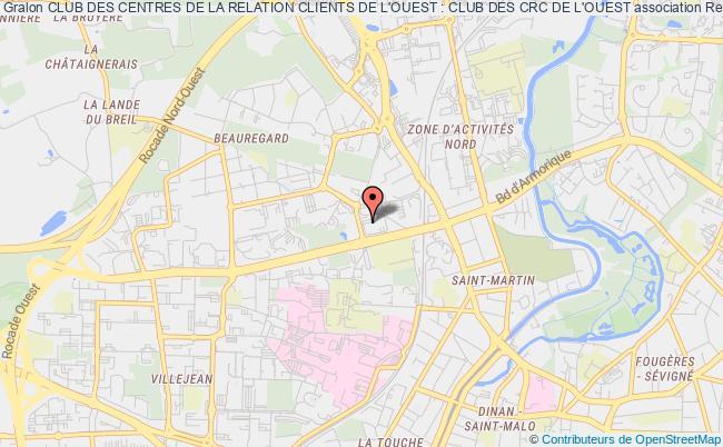 plan association Club Des Centres De La Relation Clients De L'ouest : Club Des Crc De L'ouest Rennes cedex