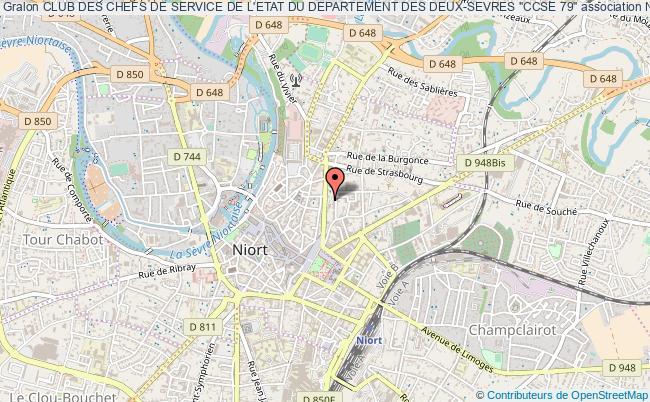 """plan association Club Des Chefs De Service De L'etat Du Departement Des Deux-sevres """"ccse 79"""""""