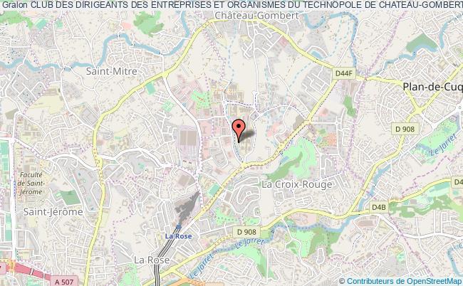plan association Club Des Dirigeants Des Entreprises Et Organismes Du Technopole De Chateau-gombert Marseille