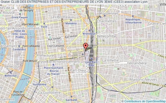 plan association Club Des Entreprises Et Des Entrepreneurs De Lyon 3Ème (cee3) Lyon