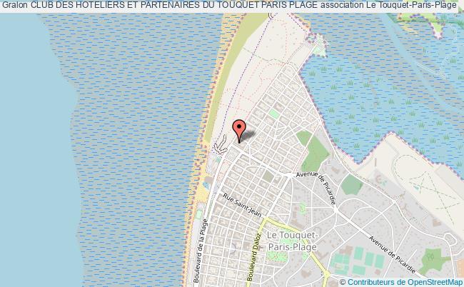 plan association Club Des Hoteliers Et Partenaires Du Touquet Paris Plage Le Touquet-Paris-Plage