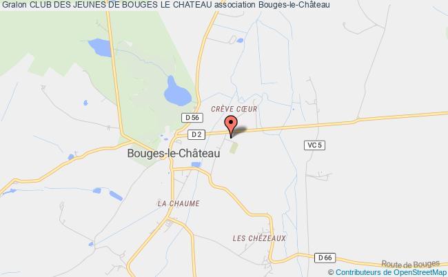 plan association Club Des Jeunes De Bouges Le Chateau Bouges-le-Château