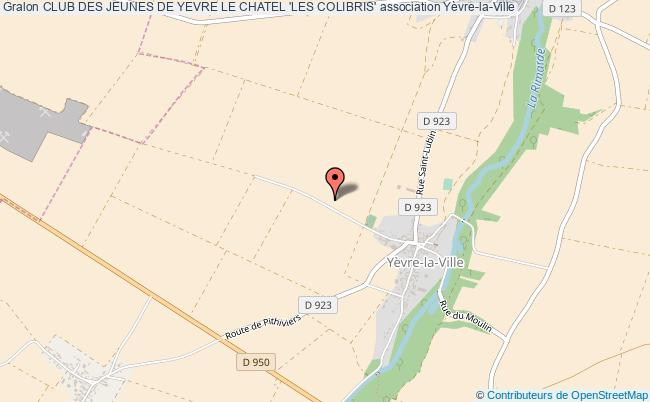 plan association Club Des Jeunes De Yevre Le Chatel 'les Colibris'