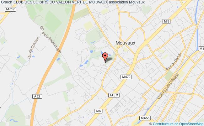 plan association Club Des Loisirs Du Vallon Vert De Mouvaux