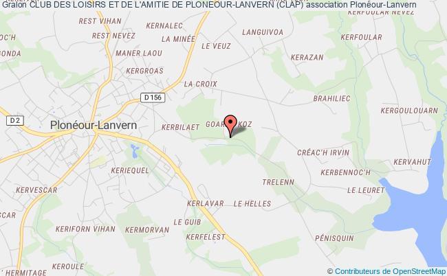 plan association Club Des Loisirs Et De L'amitie De Ploneour-lanvern (clap)