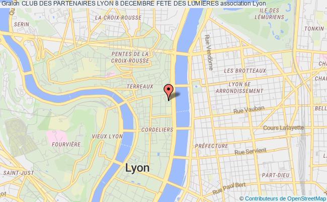 plan association Club Des Partenaires Lyon 8 Decembre Fete Des Lumieres