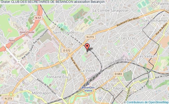 plan association Club Des Secretaires De Besancon
