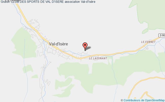 plan association Club Des Sports De Val D'isere Val-d'Isère