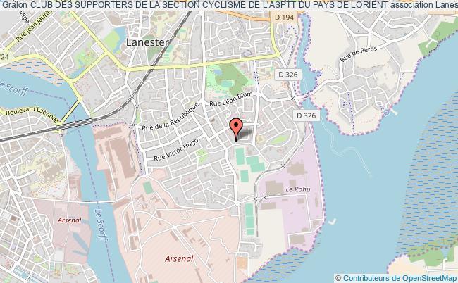 plan association Club Des Supporters De La Section Cyclisme De L'asptt Du Pays De Lorient