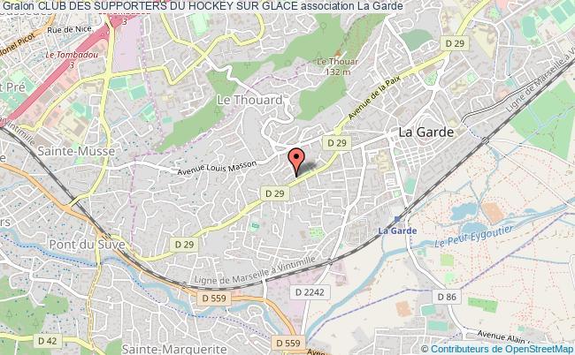 plan association Club Des Supporters Du Hockey Sur Glace La    Garde
